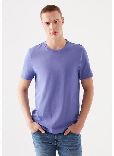 Mavi Mor Basic Tişört Mor